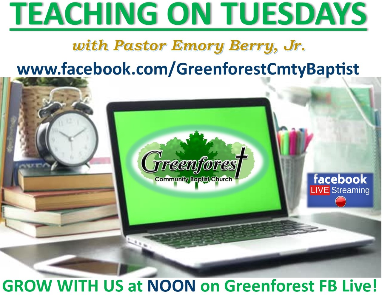 Teaching on Tuesday with Pastor Berry